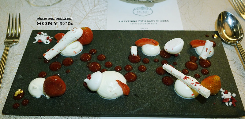 dinner and audience with gary rhodes deconstructed eton mess