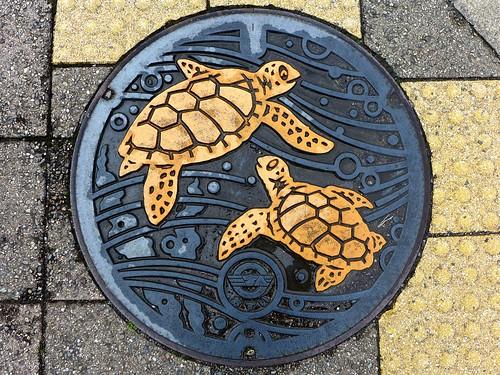 Minabe Wakayama, manhole cover 3 (和歌山県南部町のマンホール3)
