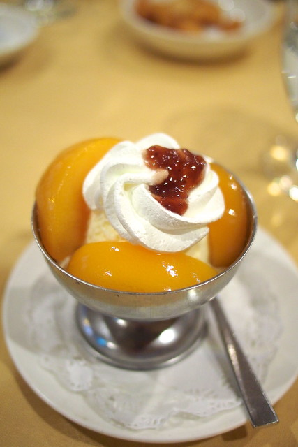 peach melba. Shashlik Restaurant, Far East Shopping Centre