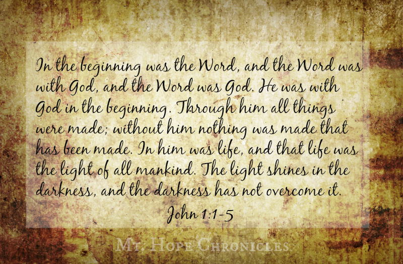 The Word @ Mt. Hope Chronicles