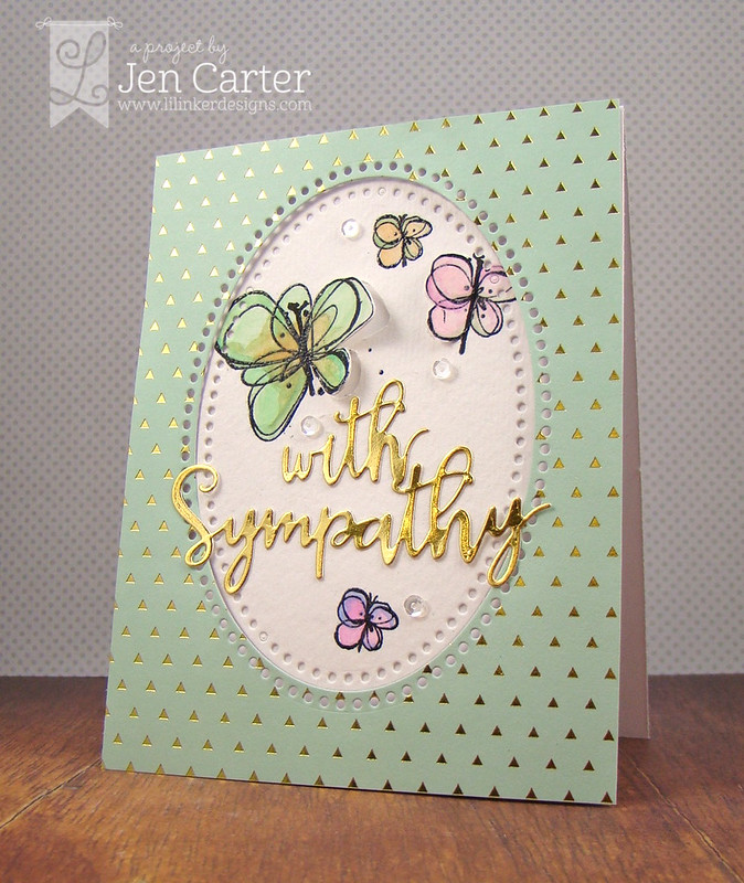 Jen Carter Gold Butterfly Sympathy Side 2