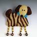 Zebra Dog Brooch wet and needle felting by bjmaiee