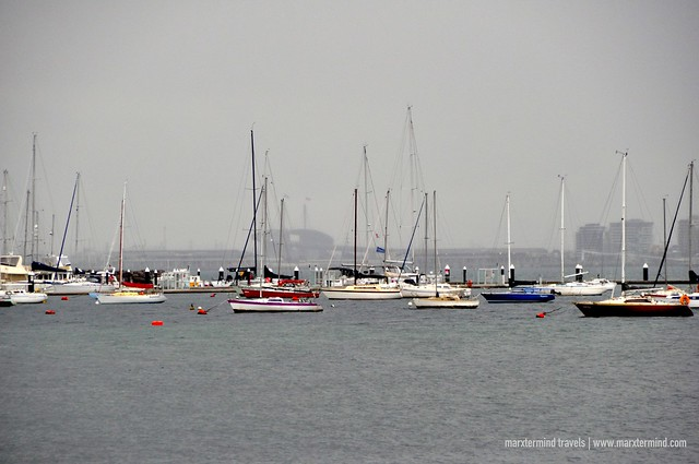 Sailboats at St. Kilda Pier