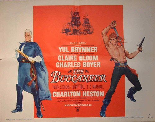 The Buccaneer - 1958 - Poster 1