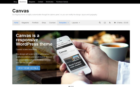 WooThemes Canvas v5.9.15 – WordPress Theme