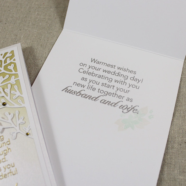 WIth Love Wedding Card Interior