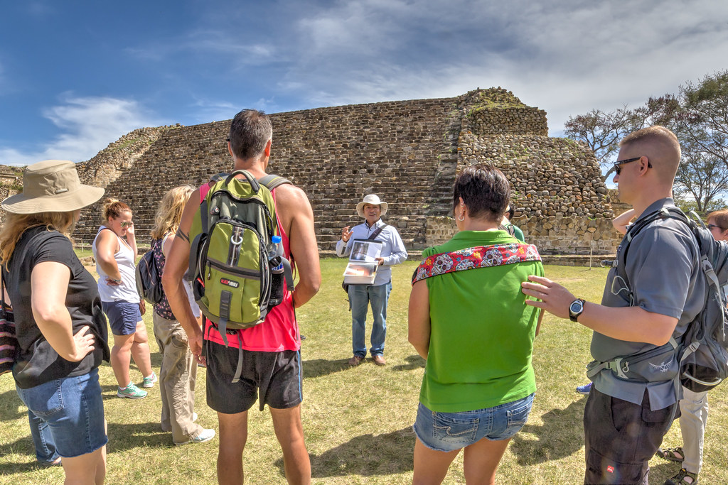 The G Adventures Group at Monte Albán