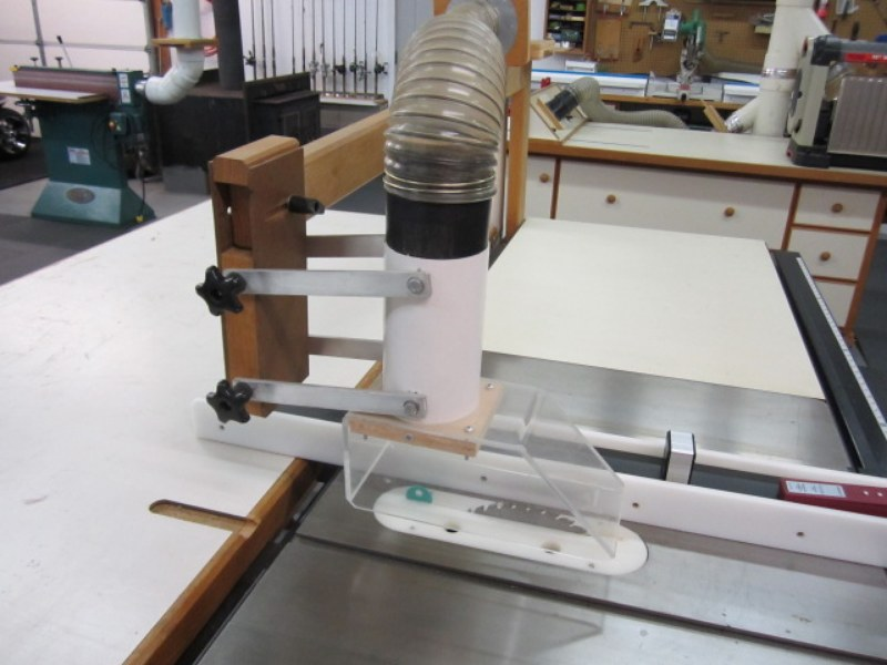 Universal Tablesaw Blade Guard Dust Collection