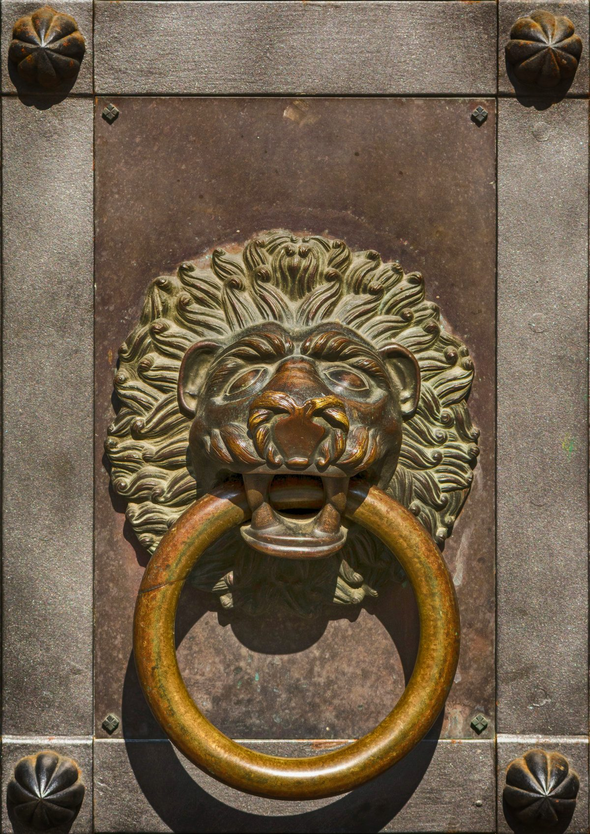 Lion head at the outer portal of Seckau Basilica, Austria, 1164