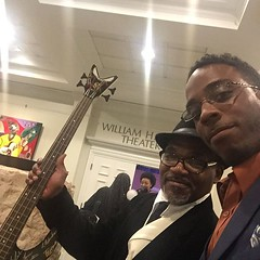 @faharrafvision and The Legend Gudge Booker donating his famous guitar to The House of MTenzi. My name is signed on that guitar also! Here at the 21st Annual Stone Awards Memphis Tennessee!  #FFVWORK #TEAMLOVE  IG, @faharrafvision Twitter, @faharrafvision