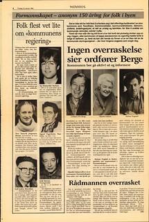 'Formannskapet - anonym 150 åring for folk i byen' (1985)