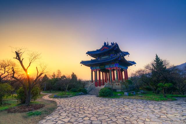 Boai Pavilion at Sunset