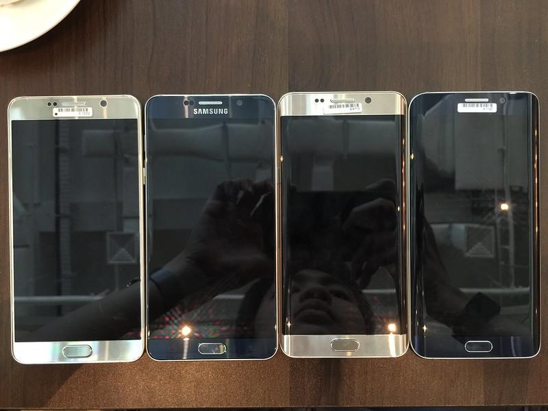 Samsung Galaxy Note 5 & S6 edge+ - Black Sapphire & Gold Platinum (Front)