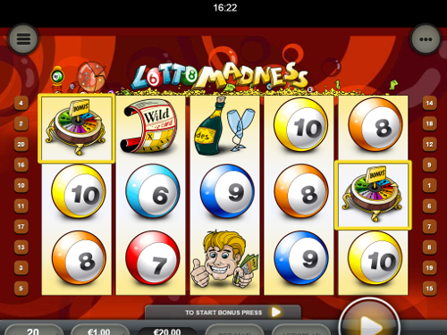free Lotto Madness Mobile free spins feature