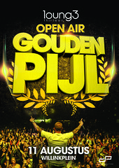 Poster Gouden Pijl Lounge 13 Open Air 2015 | Design door www.dzanarproductions.com