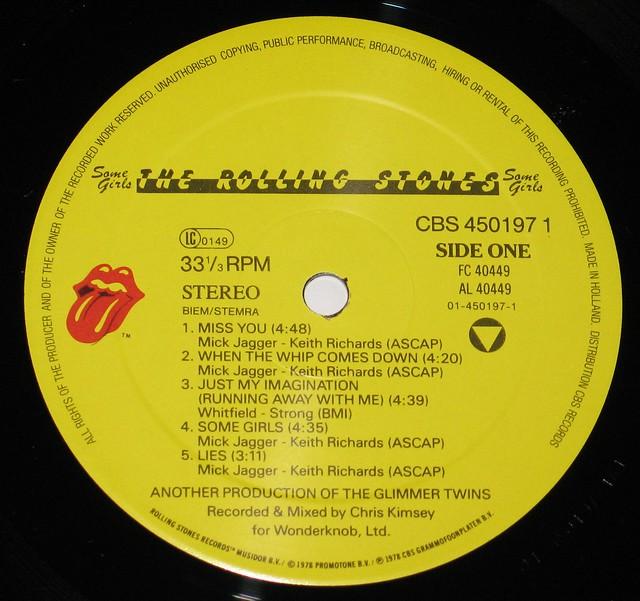"""ROLLING STONES - SOME GIRLS EEC 12"""" VInyl LP"""