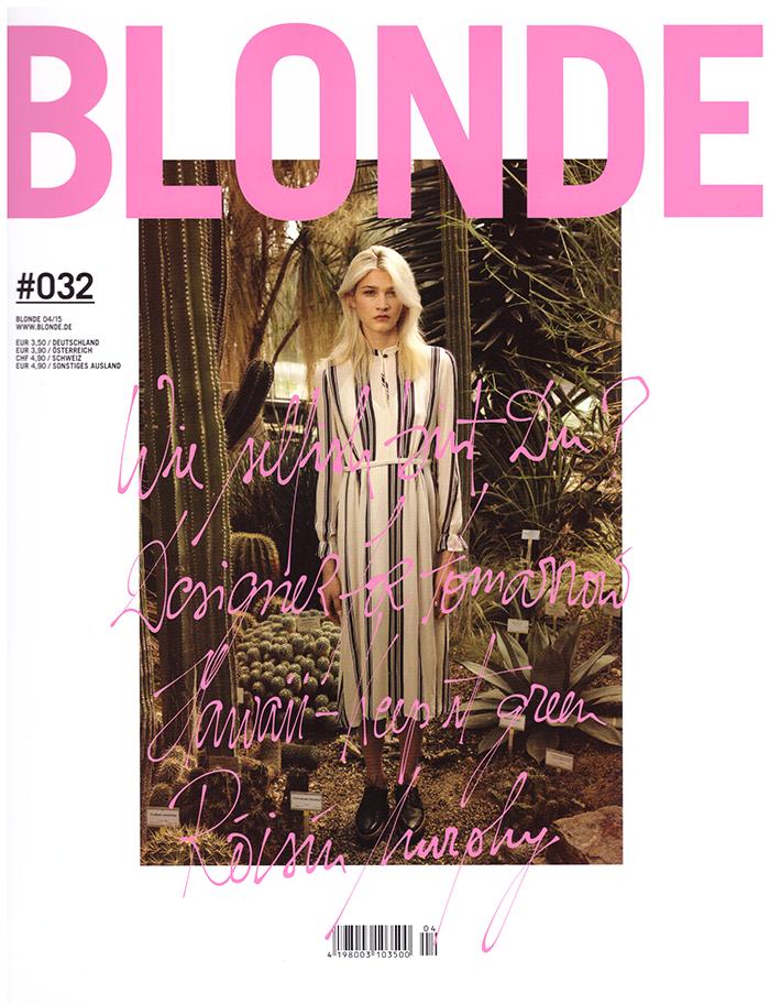 Marc Schuhmann Cover für BLONDE Fashion