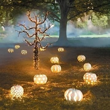 white-pumpkins-lights-pathway