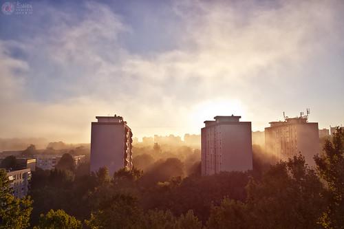 city morning cloud sunrise hdr