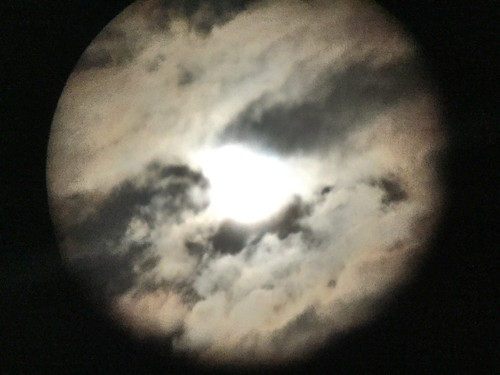 supermoon / eclipse (through binoculars)