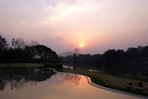 sunset thailand chiangrai kokriver lemeridienchiangrai fujifilmxe1