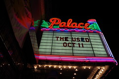Marquee of the Palace Theater