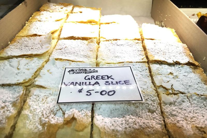 Greek vanilla slices, Providore