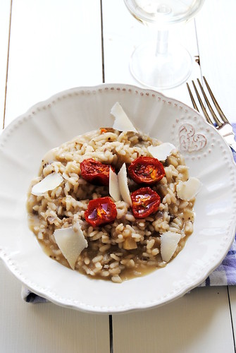Risotto with Roasted Eggplant and Cherry Tomatoes