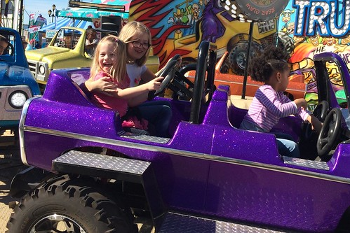 Girls on the Monster Truck ride.