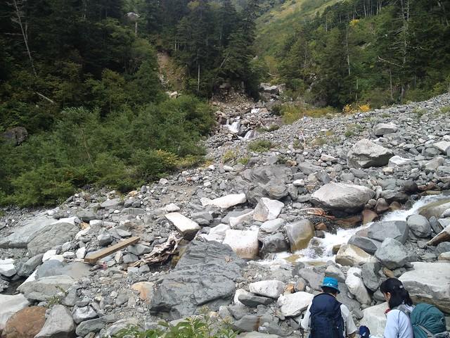 槍ヶ岳 新穂高(右俣谷)~飛騨沢ルート 滝谷