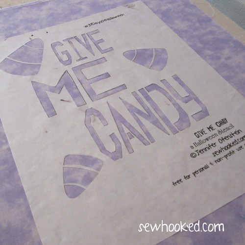 Give Me Candy Stencil by Jennifer Ofenstein, sewhooked.com