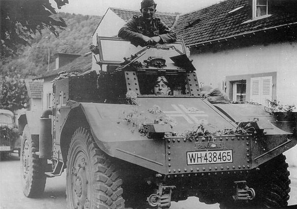 "Captured French armored car ""Panhard 178"""