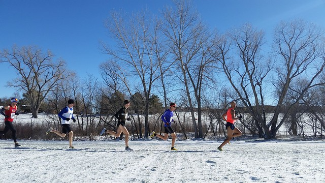 Joe Grey leads the Colorado Team Cross Country Championships