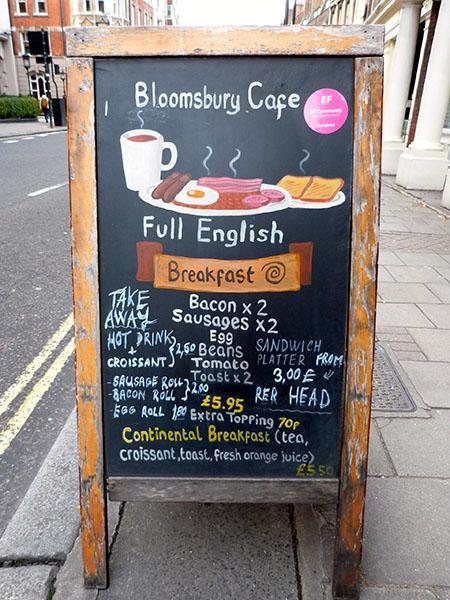 bloomsbury café