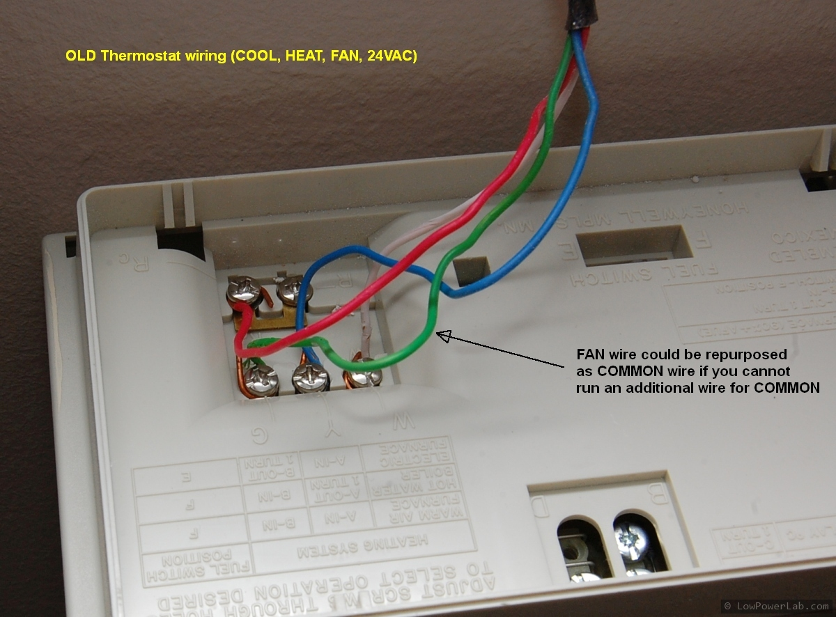 Radio Thermostat Ct 50 Review And Install Lowpowerlab Wiring A Wifi