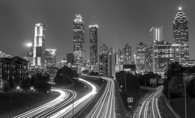 Atlanta skyline BW