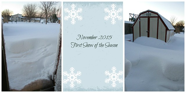 First Snow Collage