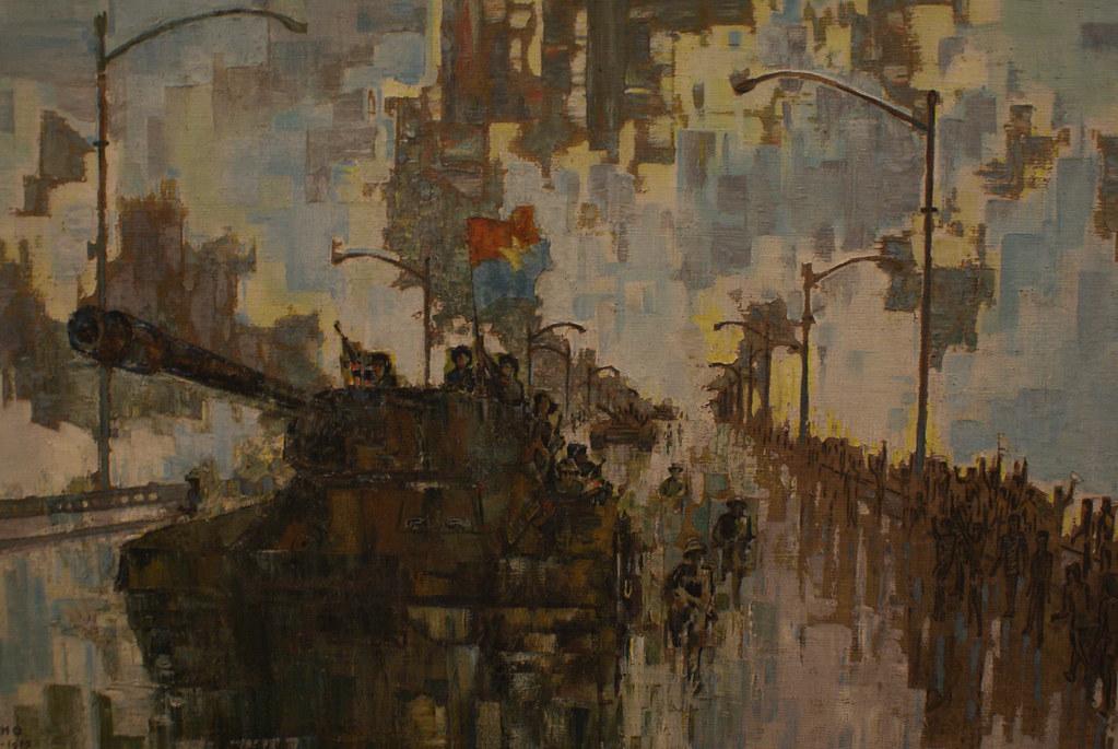 """""""Printemps ensoleillé de 1975"""" de Nguyen Quang Tho (1975) au Musée des beaux arts d'Hanoi au Vietnam."""