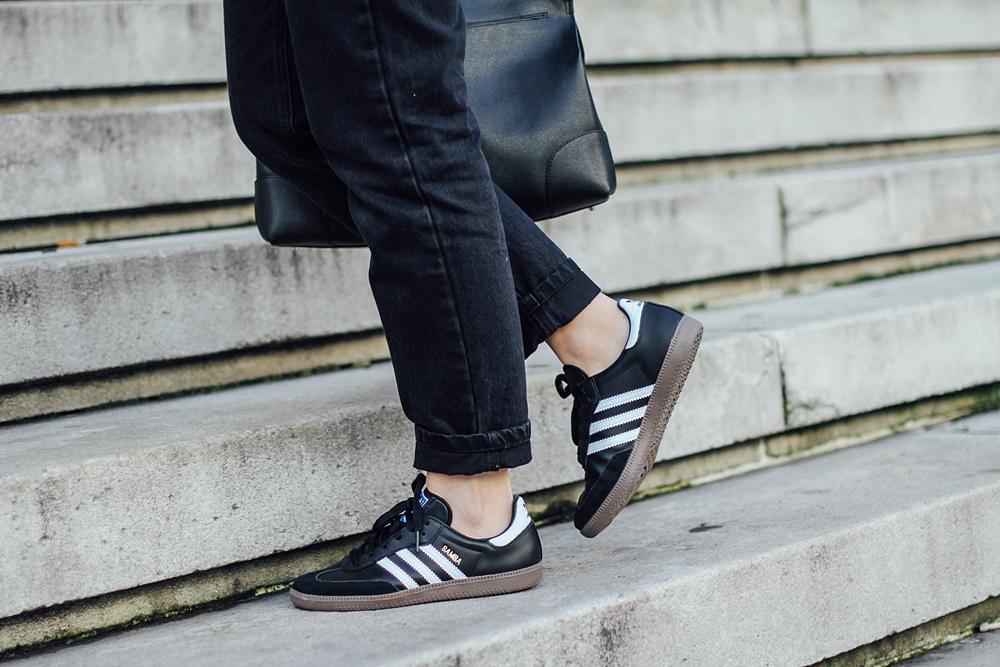 adidas samba black and white leztin street myblueberrynightsblog