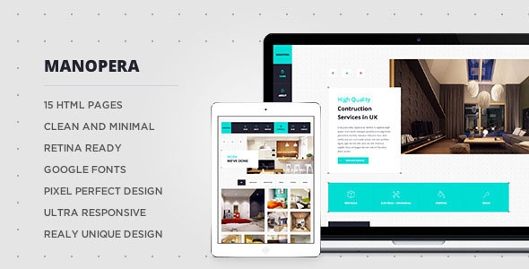 Themeforest Manopera - Professional HTML Construction Theme