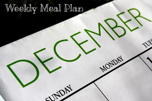 December weekly meal plan