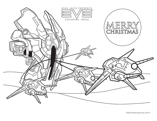 A Tristan Christmas Coloring Page