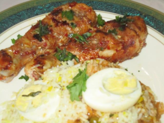 Spicy saucy chicken drumstick