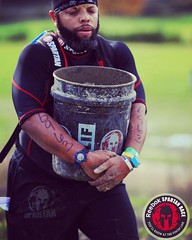 #racedayphotos during one of two Bucket Brigades at #seattlebeast2016 - the expression on my face is #priceless ...so many words come to mind but i will say this was one obstacle that proved to be a personal victory as for the first time in four #spartanr