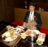 Dr. Takeshi Yamada and Seara (Coney Island Sea Rabbit) at the 99 Favor Taste buffet restaurant in Manhattan, New York on October 20, 2016. 20161020. 99 Favor Tatse M. DSCN8502=p-1010C