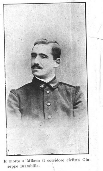 Giuseppe Brambilla (La Domenica Sportiva del 12 maggio 1918) - foto inviata da Marc Holderbeke (Zottegem - Belgio)