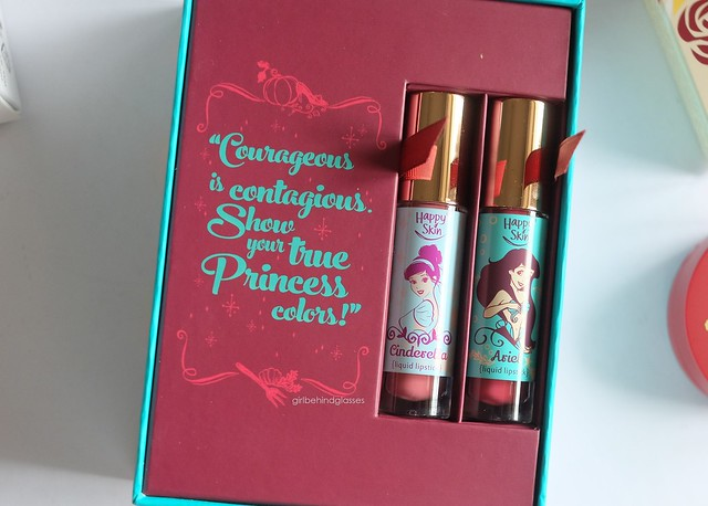 Happy Skin x Disney Princess Liquid Matte Lipstick Set in Cinderella and Ariel