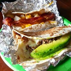 Taco norteño y papas con bacon #texmex #loveisreal
