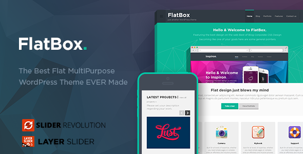 FlatBox v1.0 - Flat Multipurpose WordPress Theme