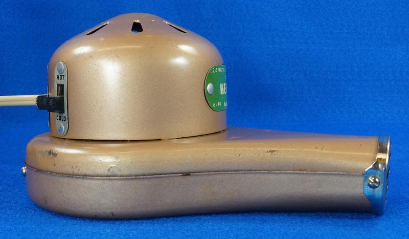 RD14519 Vintage 1949 Mid Century Kenmore Electric Hair Dryer # 559 8309 Wood Handle DSC06214